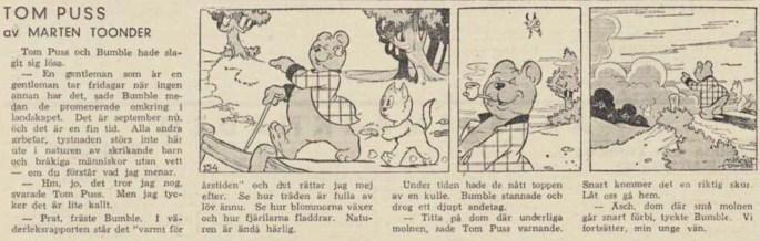 Dagsstripp nr 154 (ursprungligen från 1947), ur DN 29 maj 1948, inleder det 27:e äventyret. ©STA