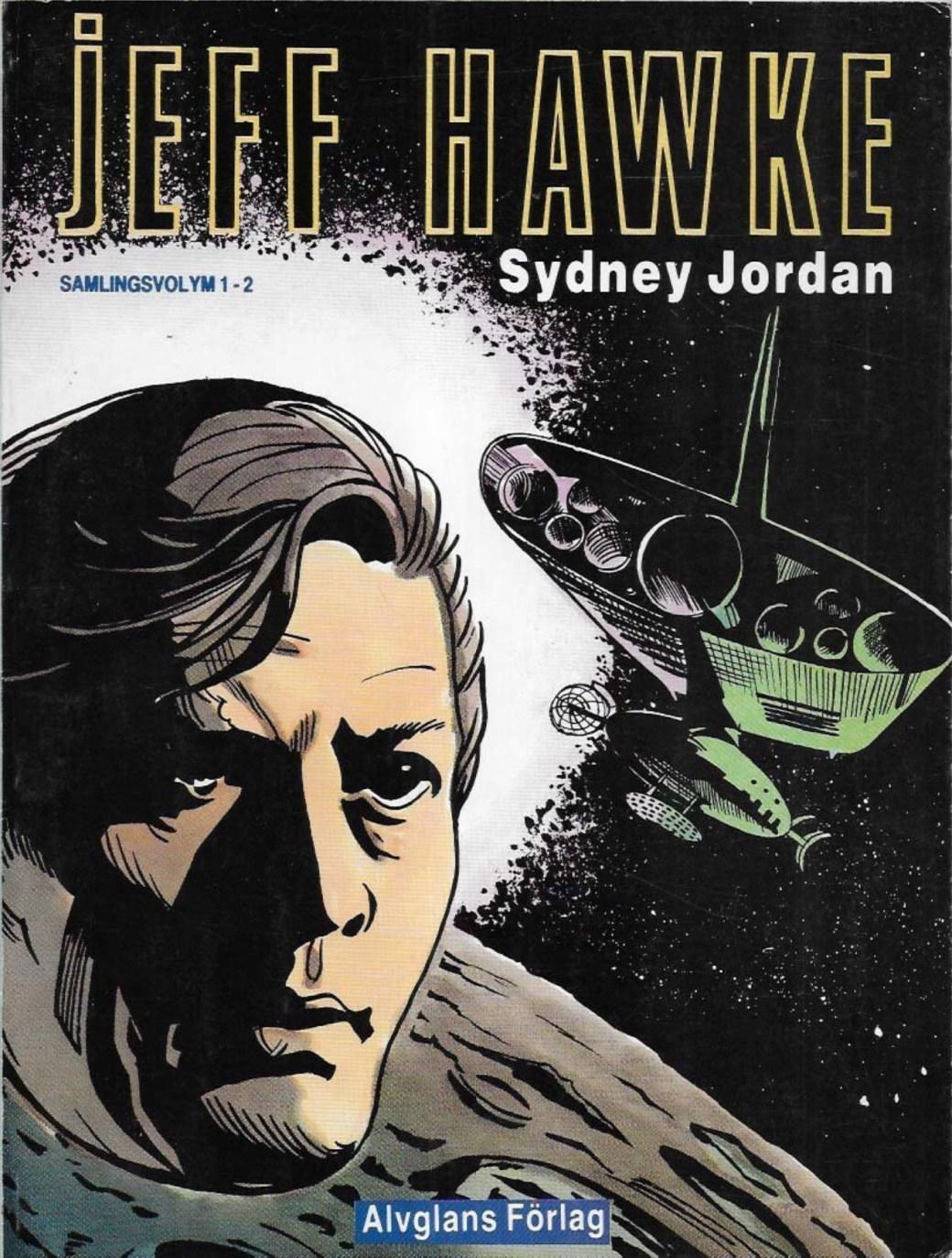 Omslag till Jeff Hawke samlingsutgåva 1-2 (1987). ©Alvglans