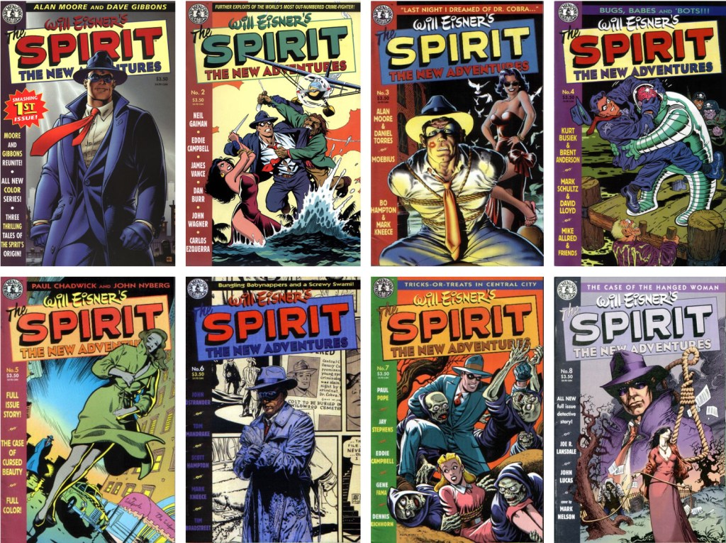 Omslag till The Spirit, the New Adventures #1-8 (1998). ©Kitchen Sink