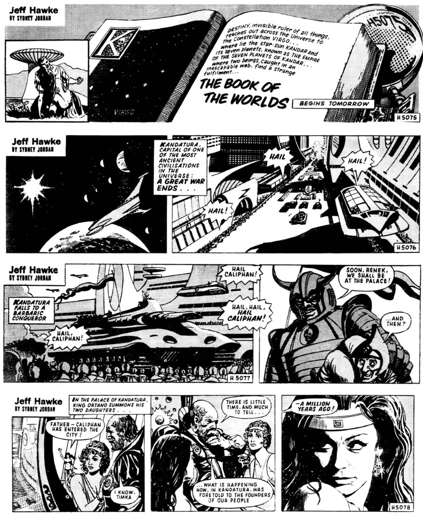 Motsvarande strippar i original, från 10-13 januari 1971. ©Daily Express