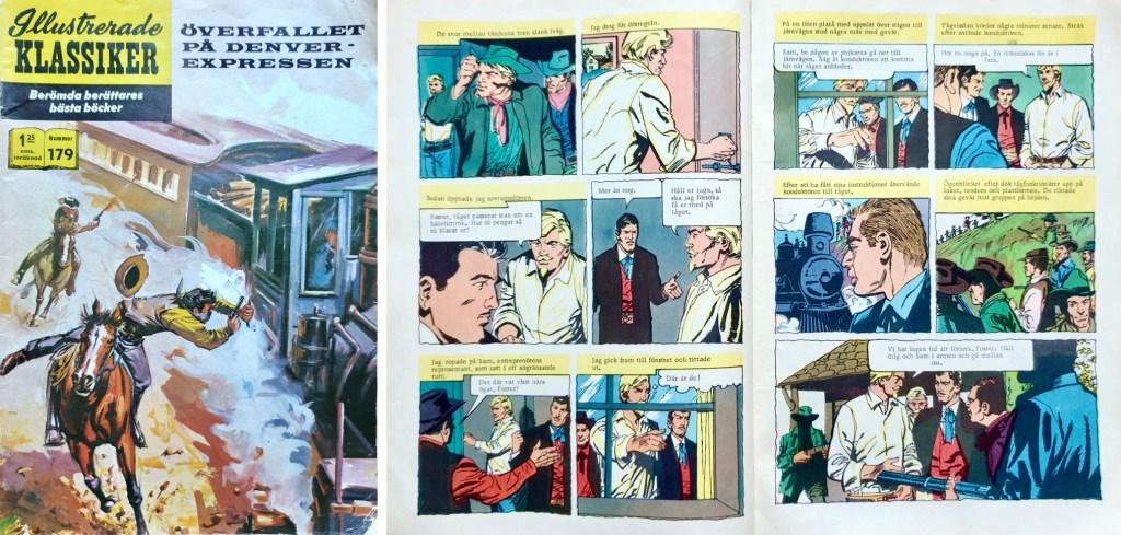 Omslag till Illustrerade klassiker nr 179, och ett uppslag ur inlagan. ©Williams