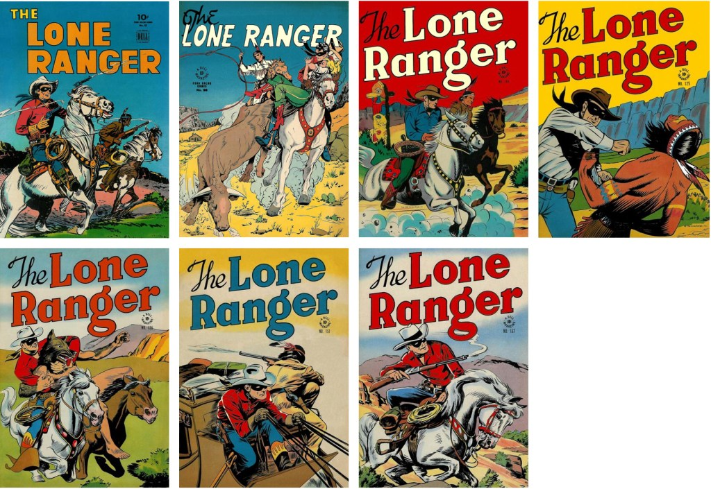 Omslag till Four Color Comics med Lone Ranger. ©Dell