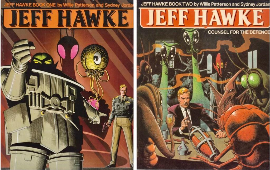 Jeff Hawke Book One (1986) och Book Two (1987). ©Titan