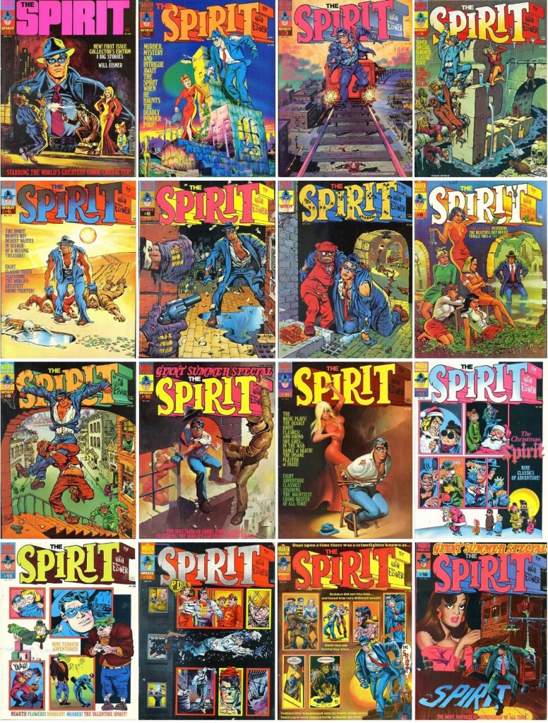 Omslag till The Spirit #1-16 (1974-76). ©Warren