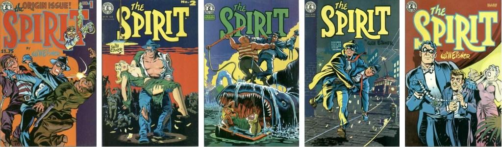 Omslag till The Spirit #1-5 (1983-84). ©Kitchen Sink