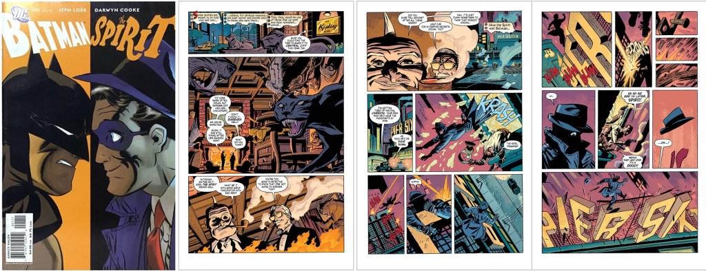 Omslag och inledande sidor till Batman/The Spirit (2007). ©DC Comics