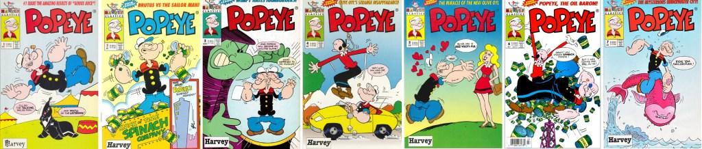 Popeye #1-7 (1993-94). ©Harvey