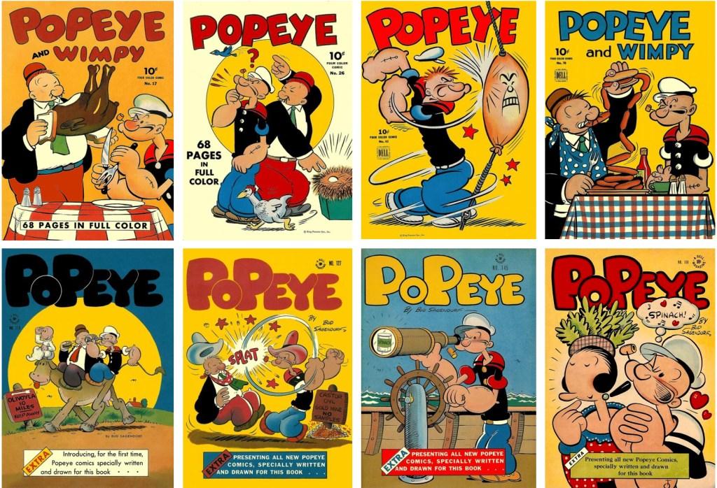 Omslag till Four Color Comic (den andra versionen) med Popeye. ©Dell