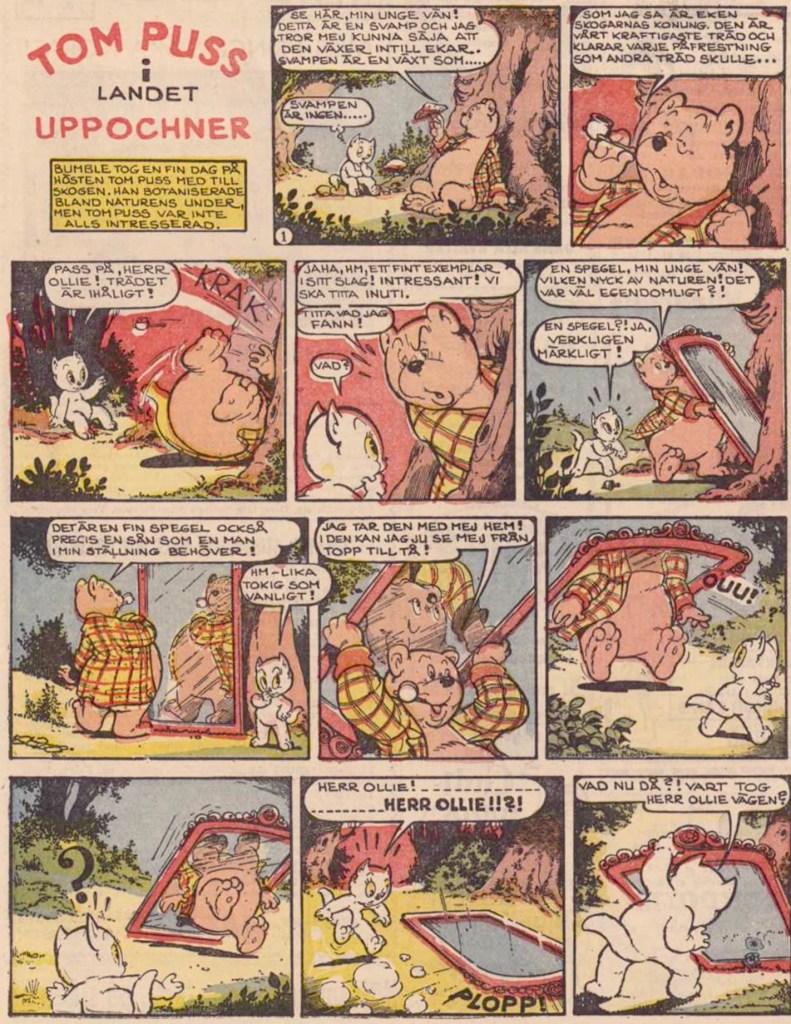 Inledande söndagssida ur trettonde episoden, från 21 november 1954. ©STA
