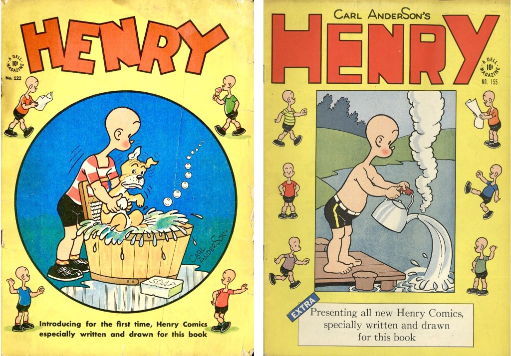 Omslag till Four Color Comic #122 (1946) och #155 (1947). ©Dell