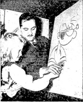 Serietecknaren Bela Zaboly med Karl-Alfred (serien)