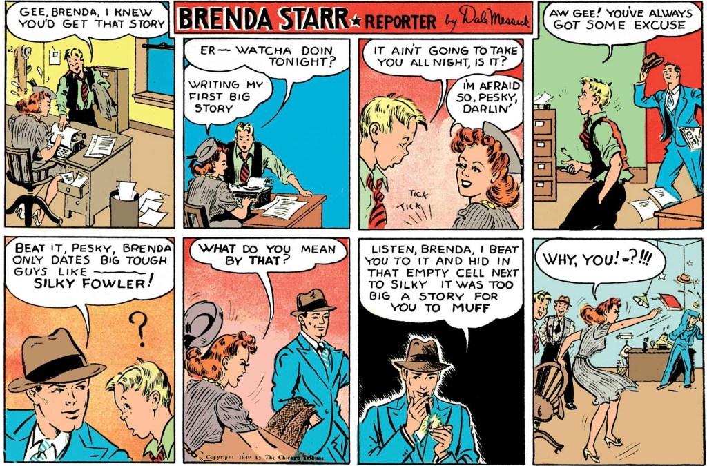Motsvarande innehåll ur CST Comic Book Magazine från 14 juli 1940. ©CT/NYNS