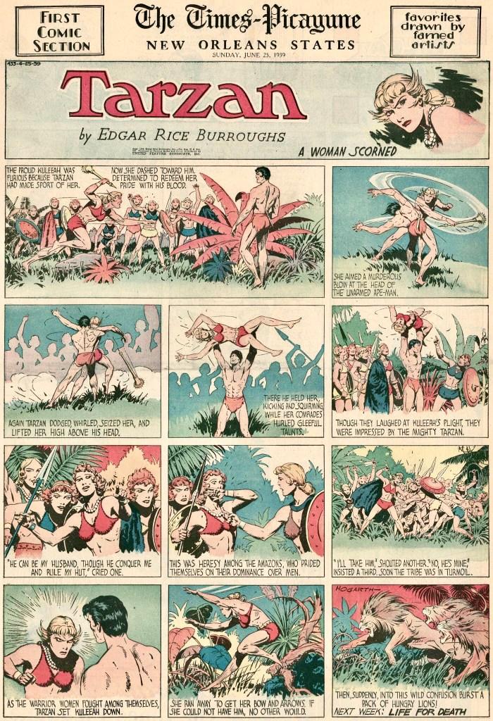 Söndagssida med Tarzan från 23 juni 1939
