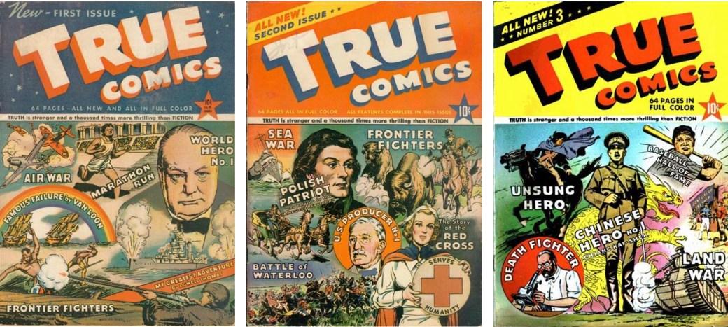 Omslag till True Comics #1-3 (1941). ©Parents' Magazine Press