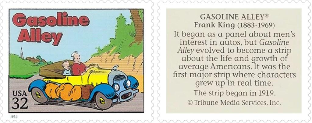 Comic Strip Classics-frimärket med Gasoline Alley av Frank King (1883-1959). ©TMS