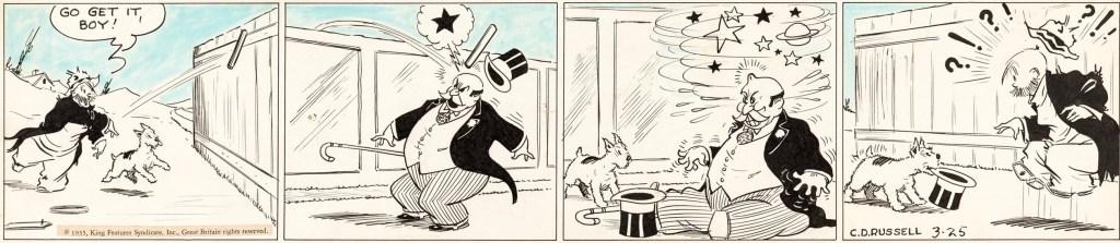 Original till en dagsstripp från 25 mars 1935. ©KFS
