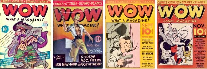 Det utkom fyra nummer av Wow, What a Magazine! (1936). ©Henle Publications