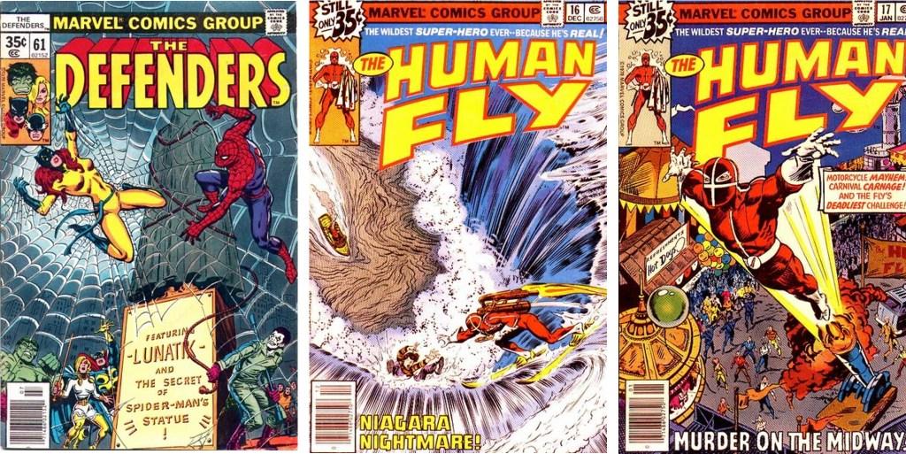 Omslag till serietidningar med serier av Lubbers (1978-79). ©Marvel