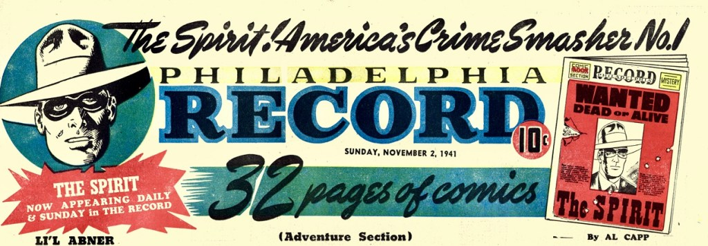 Annons för The Spirit Section, från 2 november 1941. ©Philadelphia Record