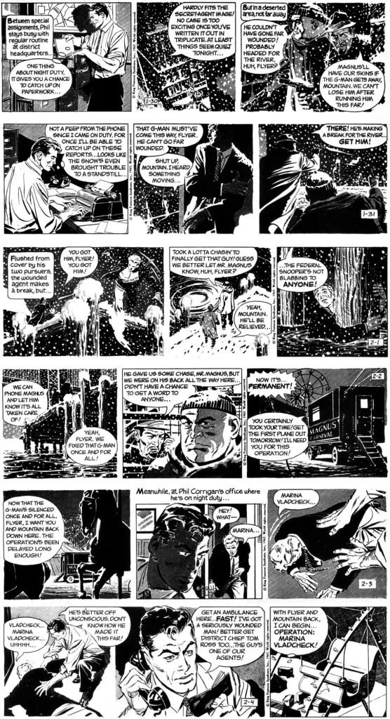 Första veckan med Al Williamson, med 106:e episoden, Försvunnen forskare, från 30 januari till 4 februari 1967. ©KFS