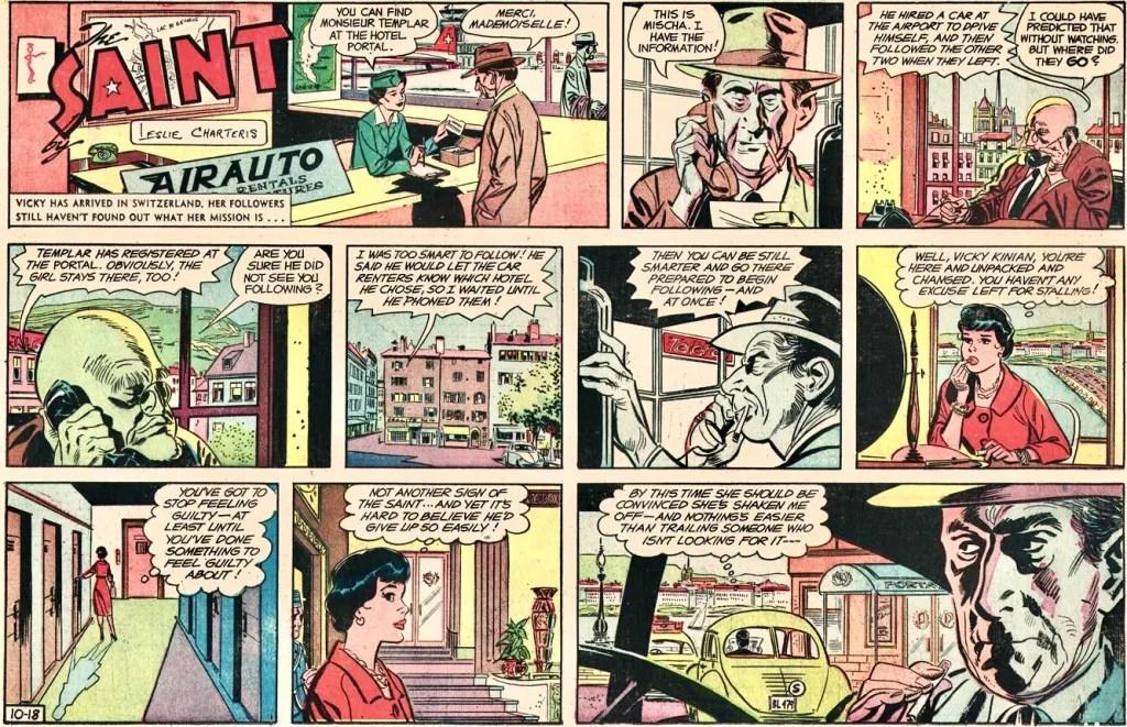 En söndagsstripp från 18 oktober 1959, under en period då,serien saknade John Spranger-kreditering. ©NNHT