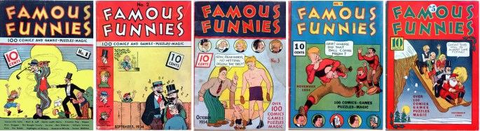 Omslag till Famous Funnies #1-5 (1934). ©Eastern