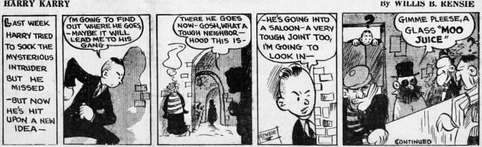 En dagsstripp med Harry Karry från 16 juni 1938.