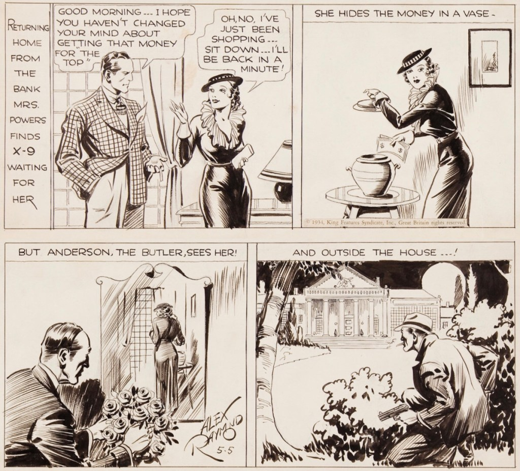 Original till en dagsstripp från 5 maj 1934. ©KFS