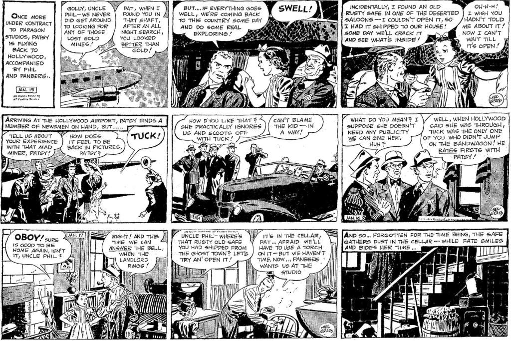 Tre dagsstrippar från 15-17 januari 1940, möjligen med Noel Sickles som spöktecknare. ©AP