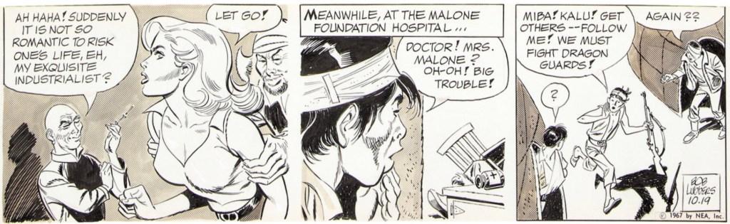 Original till en dagsstripp med Robin Malone, från 19 oktober 1967. ©NEA