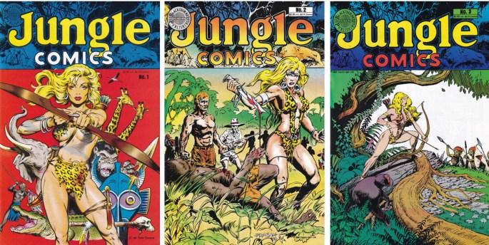 Omslag till Jungle Comics #1-3 (1988). ©Blackthorne
