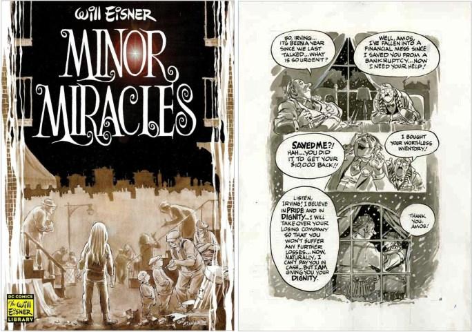 Omslag och original till en insida för Minor Miracles (2000). ©DC