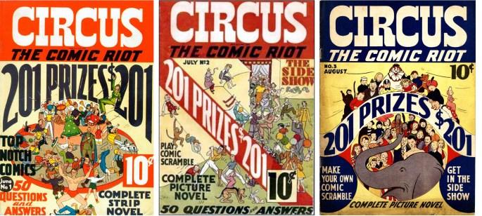 Omslag till Circus The Comic Riot #1-3 (1938). ©Globe