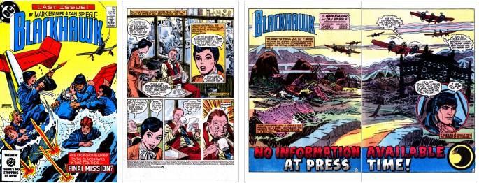 Omslag och inledande sidor ur Blackhawk #273 (1984) ©DC/National