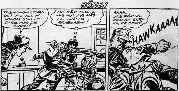En typisk stridsscen, ur Höken nr 22, 1957. ©Formatic/EuropaPress