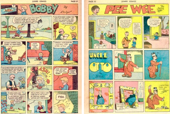 Serierna Bobby och Pee Wee ur Jumbo Comics #23 (1941). ©Eastern