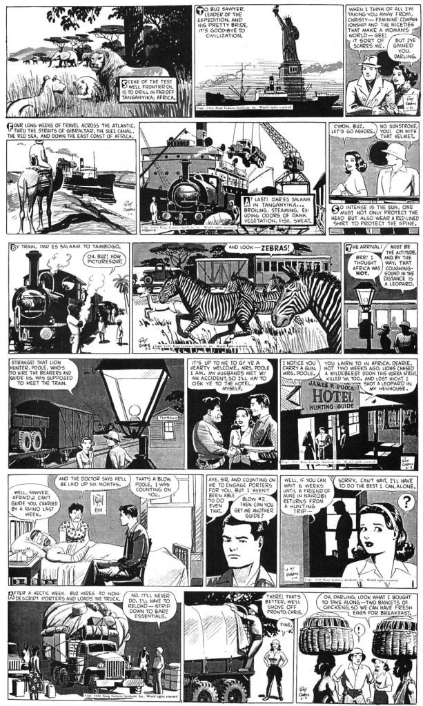 Dagsstripparna från veckan 31 januari till 5 februari 1949. ©KFS