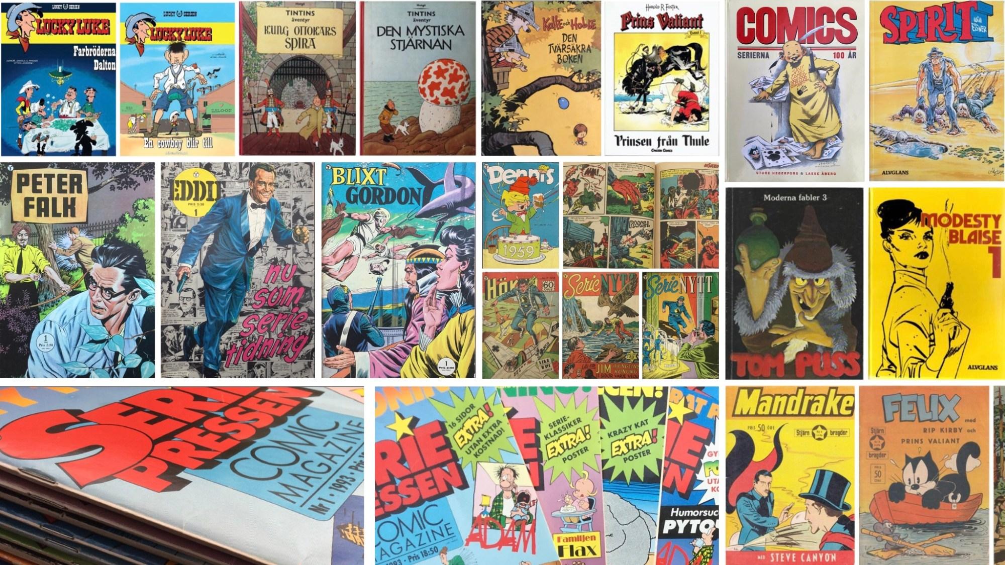 Förlag som är utgivare av serietidningar, seriealbum, serieantologier etc.