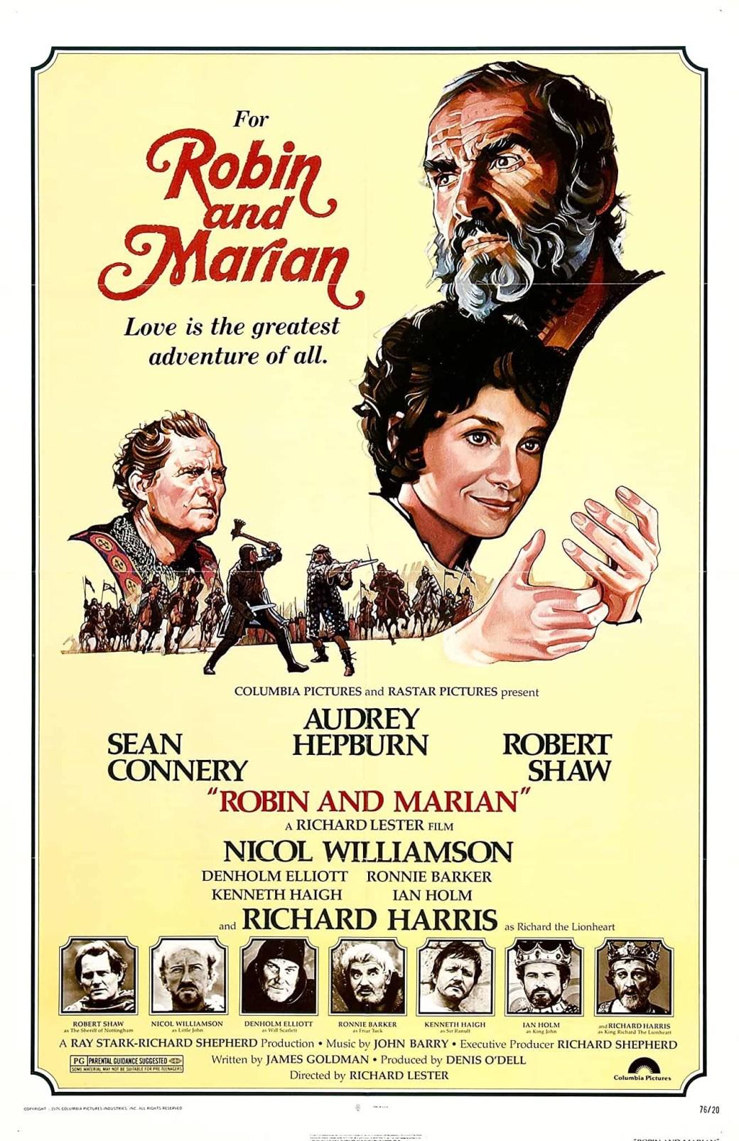 Filmaffisch med Robin Hood – äventyrens man (Robin and Marian). ©Columbia