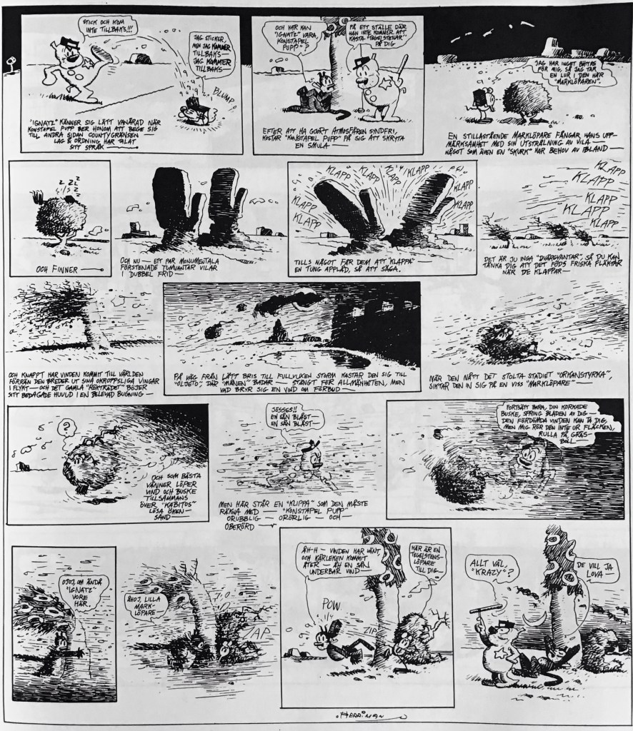 En söndagssida med Krazy Kat, ur nya Comics (1993). ©KFS