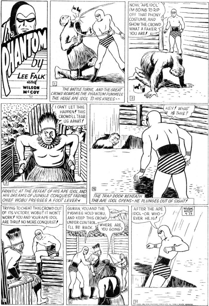 Motsvarande söndagssida i original från 23 april 1950. ©KFS