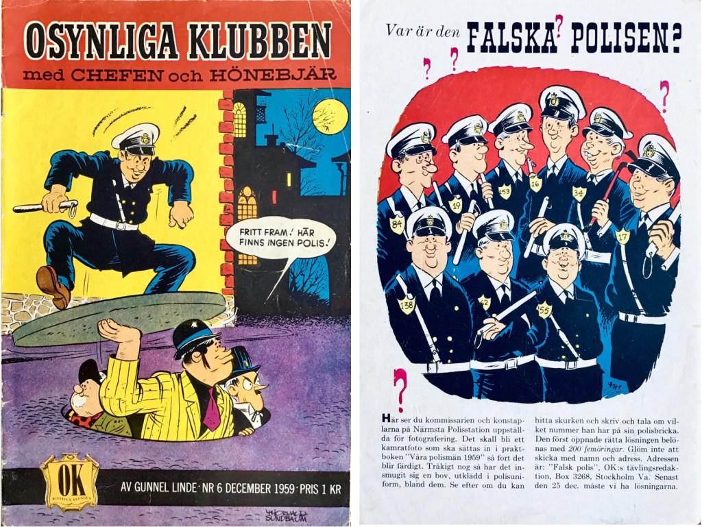 Omslagets fram- och baksida till Osynliga klubben nr 6. ©Å&Å