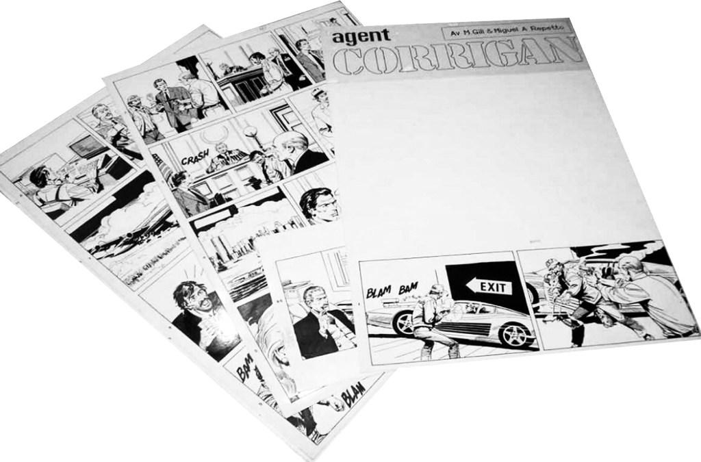 Några original till Agent Corrigan av M. Gill och Miguel Angel Repetto. ©KFS
