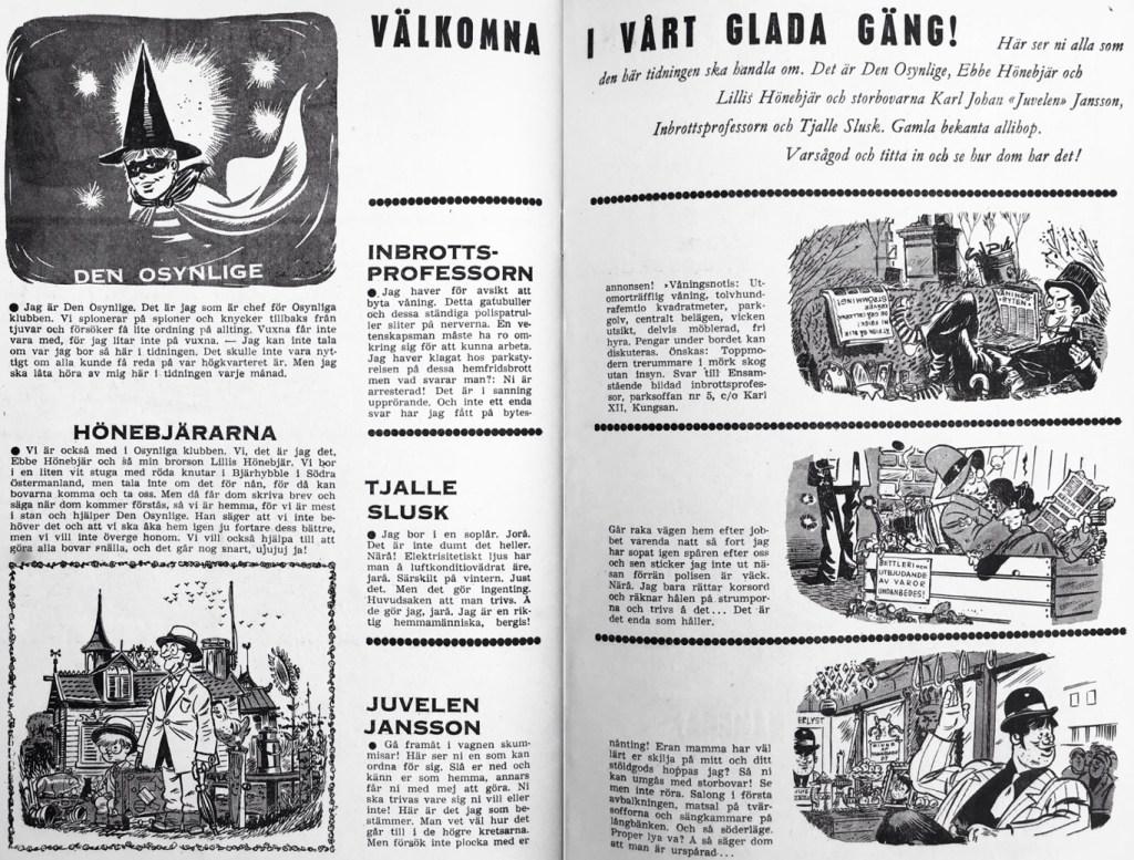 Presentationen av seriefigurerna. ©Å&Å