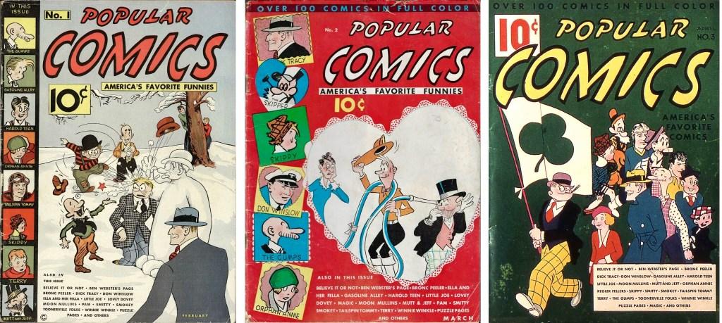 Omslag till Popular Comics #1-3 (1936). ©Dell