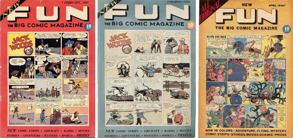 Omslag till New Fun, The Big Comic Magazine #1-3 (1935). ©National