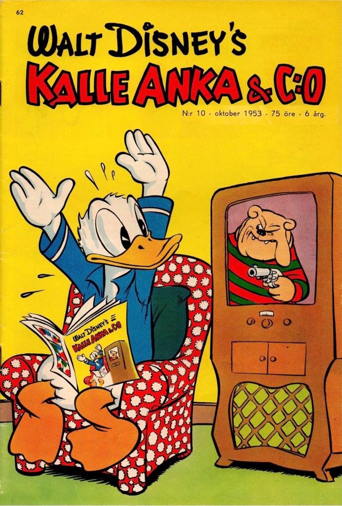 Omslag till Kalle Anka & C:o nr 10, 1953. ©Richters/Hemmets Journal