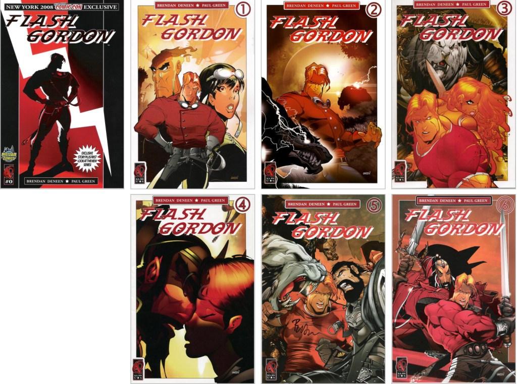 En omslagsversion av Flash Gordon (2008-09). ©Ardden