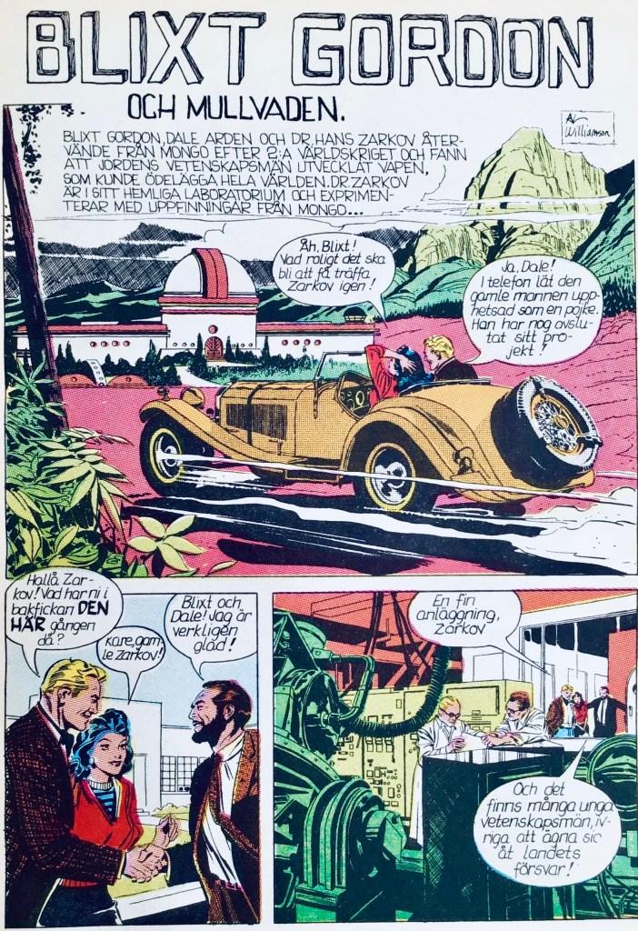 Blixt Gordon av Al Williamson, ur Comics 6, den stora serieboken (1974). ©Bulls