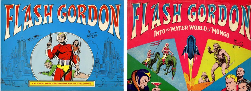 Omslag till Flash Gordon #1 och #2. ©Nostalgia